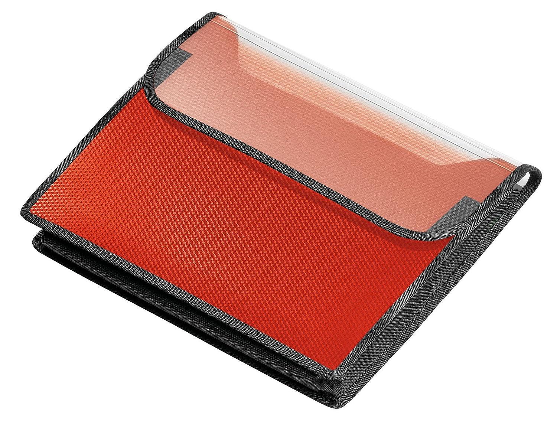Veloflex 1443422–Cartella velobag, DIN A4, Orizzontale, altezza 40mm, rosso