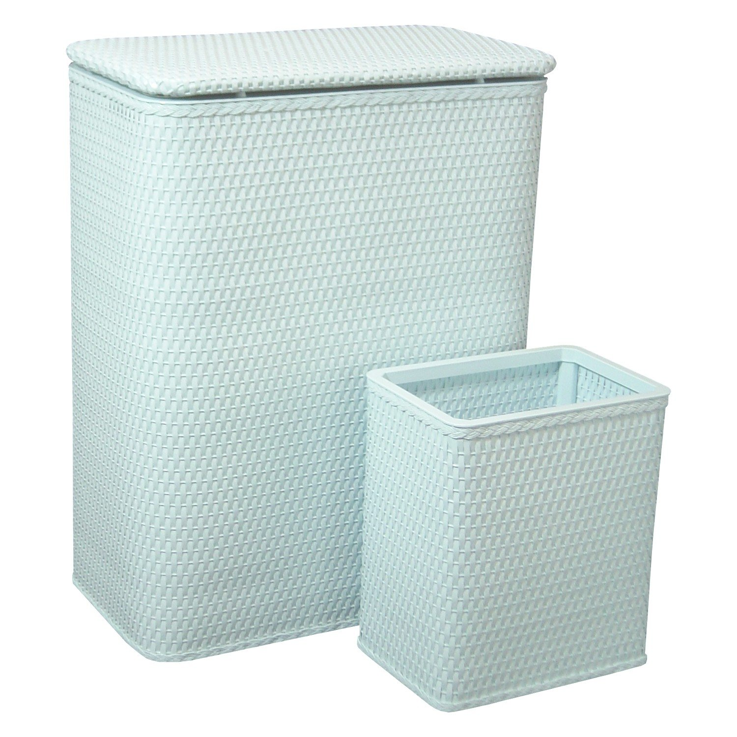 Redmon CHELSEA COLLECTION HAMPER AND MATCHING WASTEBASKET SET 4262IB