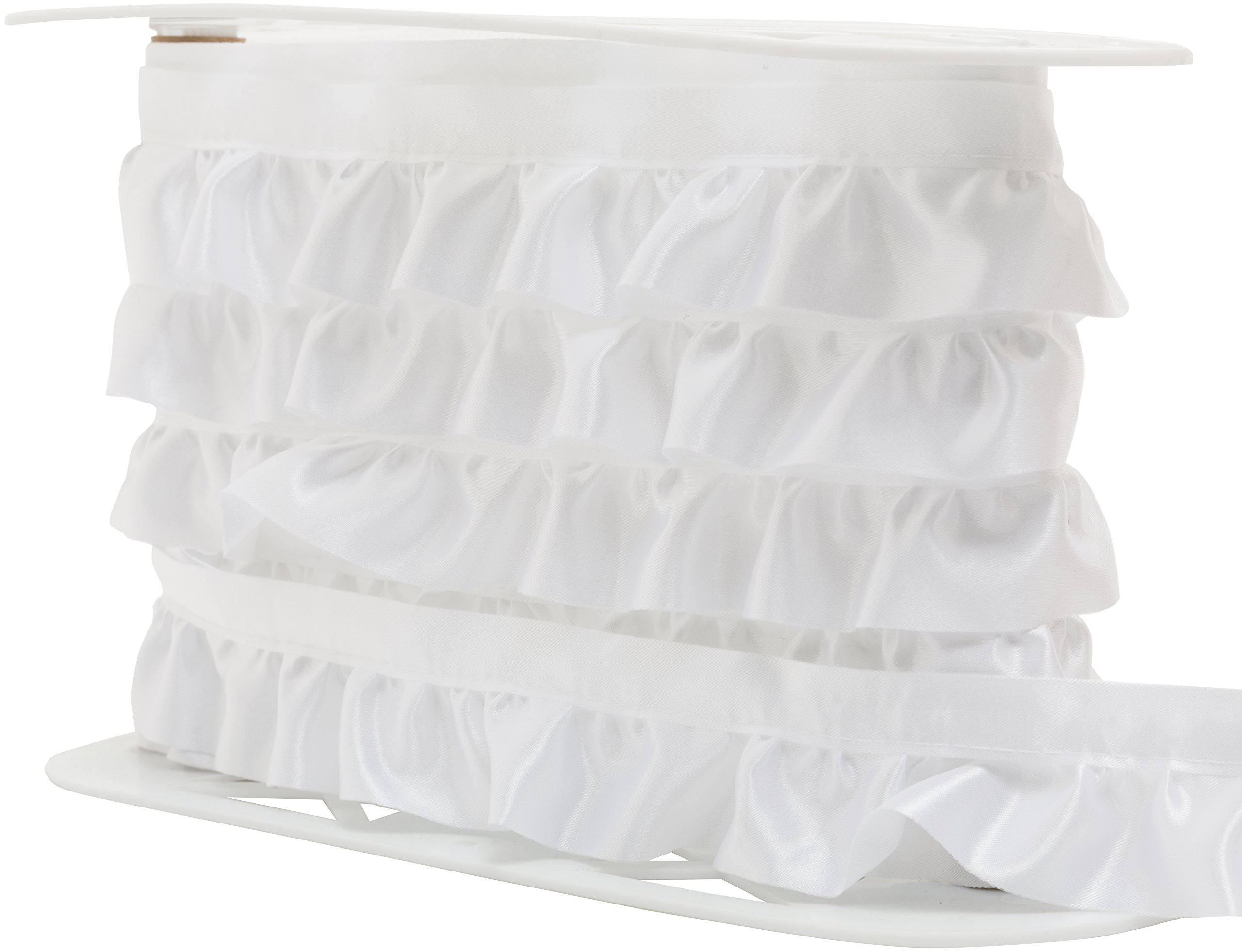 Wright Products Simplicity Ruffled Quilt Binding 1-7/8''X8yd, White by Wright Products