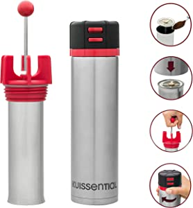 Versa Travel French Press - Reverse Groundless System and Insulated Travel Mug