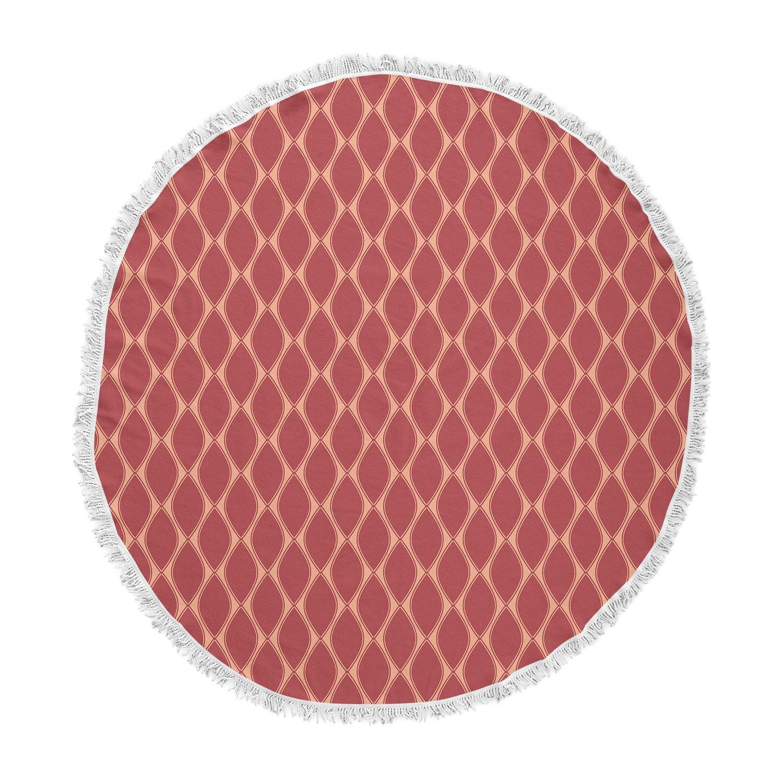 Kess InHouse Nandita Singh Marsala /& Peach Red Pattern Round Beach Towel Blanket
