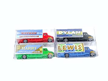 ETHAN PERSONALISED NAME LORRY TRUCK TOY - THIS TRUCK IS PERSONALISED