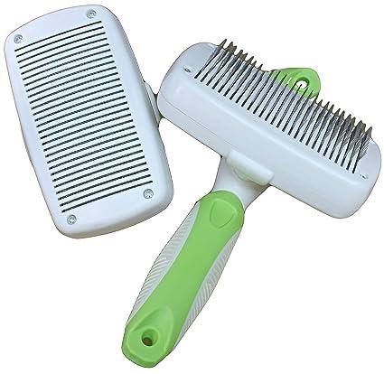WeGo Auto-Limpieza Cepillo Cepillo de Perros y Gatos - Conveniente para el Pelo Corto