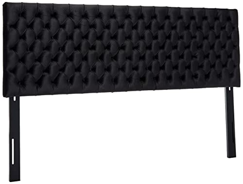 Christopher Knight Home JessicaTufted Cal King Cobalt Velvet Headboard, Black