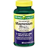 Spring Valley High Absorption Magnesium 200 mg, Sleep Support, 60 Capsules