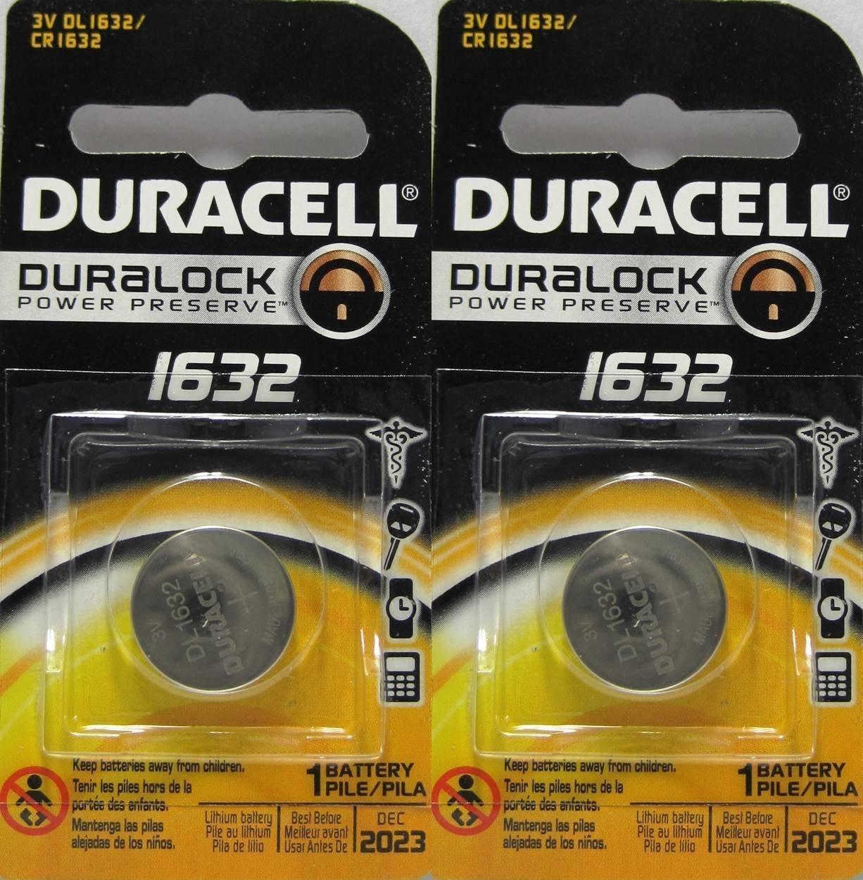 Amazon Com 2 X 2 Duracell Cr1632 1632 Car Remote Batteries Health