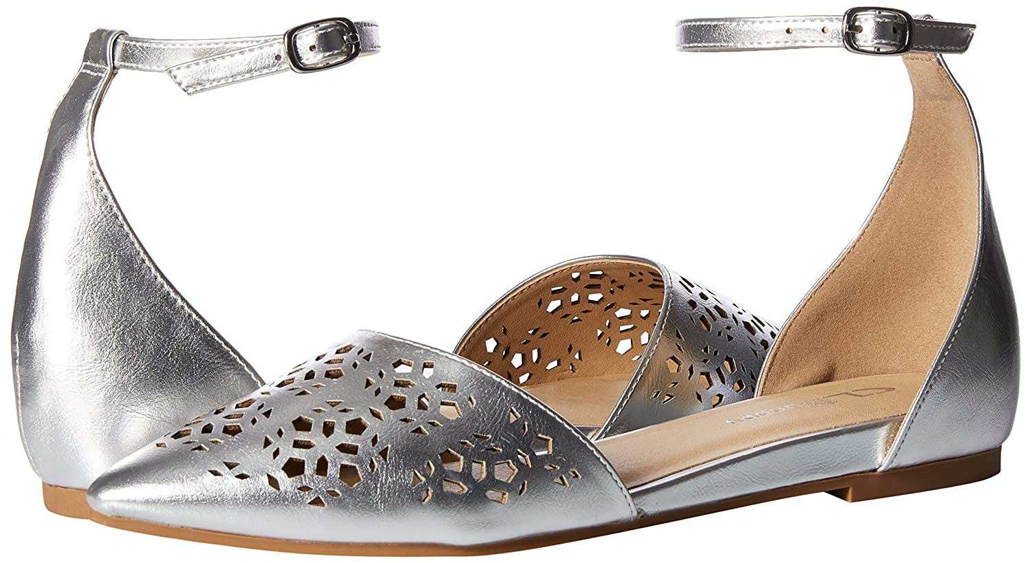CL by Chinese Flat Laundry Women's Hello Ballet Flat Chinese B076DNWN68 8 B(M) US|Silver/Metallic a479a1