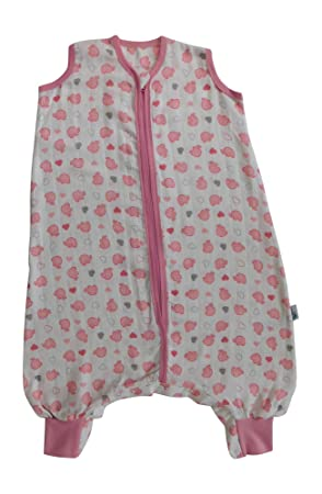 best service f4227 67df1 Slumbersac Summer Sleeping Bag with Feet and Poppers 0.5 Tog - Bamboo  Muslin Pink Elephant - 6-12 months/70cm