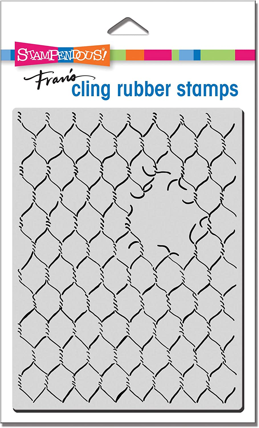 STAMPENDOUS CRR318 Cling Rubber Stamp CHCKN Wire