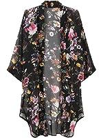 Choies Women's Chiffon Tribe Pattern 3/4 Sleeve Beach Cover Up Loose Kimono