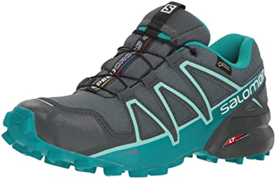 Salomon Women s Speedcross 4 GTX W Trail Running Shoe Balsam Tropical  Green Beach Glass bbd5439dfc2