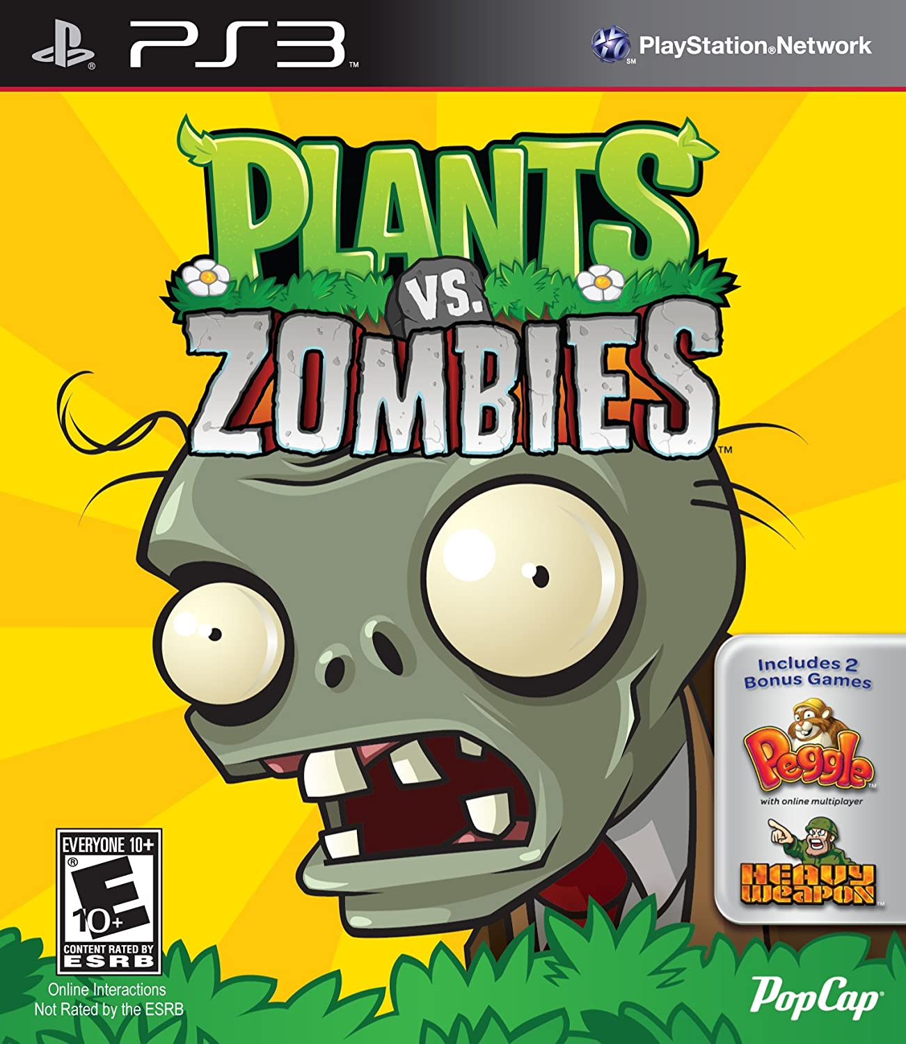 Amazon com: Plants Vs  Zombies - Playstation 3: Video Games