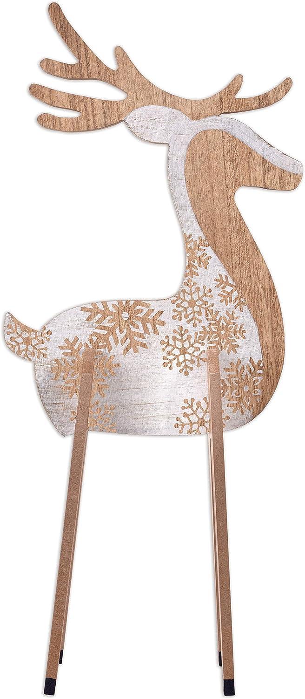 Sunset Vista Designs Winter Wonderland Rustic Holiday Décor, 32-Inches, Reindeer