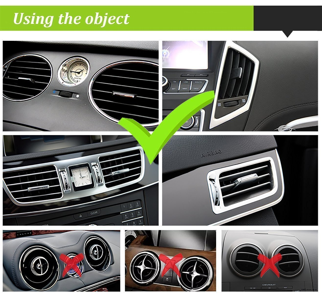 Beam Electronics Universal Smartphone Car Air Vent Mount Holder Cradle Compatible with iPhone X 8 8 Plus 7 7 Plus SE 6s 6 Plus 6 5s 5 4s 4 Samsung Galaxy S6 S5 S4 LG Nexus Sony Nokia and More… by Beam Electronics (Image #7)