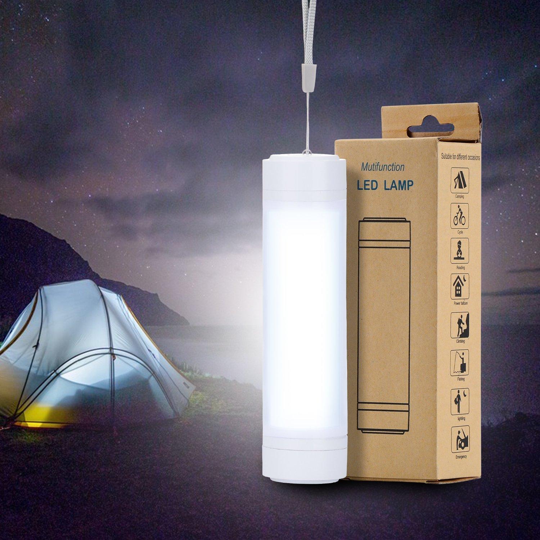 Linterna de camping recargable con base magn/ética para tienda de campa/ña pesca al aire libre ciclismo senderismo luz de emergencia linterna de trabajo magn/ética para iluminaci/ón del hogar