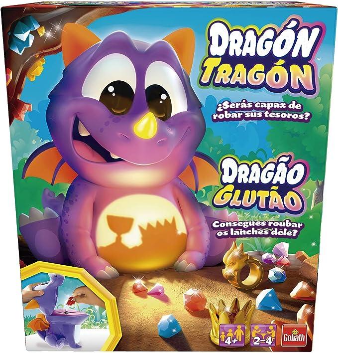 Goliath Dragón Tragón. ¡Su Barriga se Ilumina Recuerda los Colores y saca el Tesoro Correcto Morado (31228): Amazon.es: Juguetes y juegos