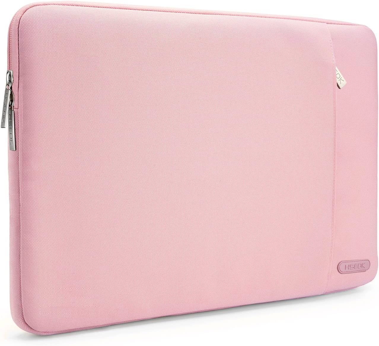 HSEOK 15.6-Inch Laptop Case Sleeve, Environmental-Friendly Spill-Resistant Case for 15.4-Inch MacBook Pro 2012 A1286, MacBook Pro Retina 2012-2015 A1398 and Most 15.6-Inch Laptop, Pink
