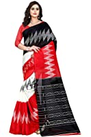 Jaanvi Fashion Women's Bhagalpuri Silk Ikkat Patola Print Saree (Red)