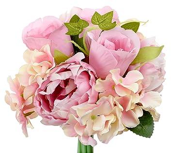 Fiveseasonstuff 13 Tallos De Artificial Flores Y Ramo De