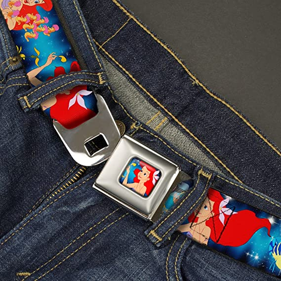 Buckle-Down Seatbelt Belt 20-36 Inches in Length 1.0 Wide The Little Mermaid Under the Sea Scenes