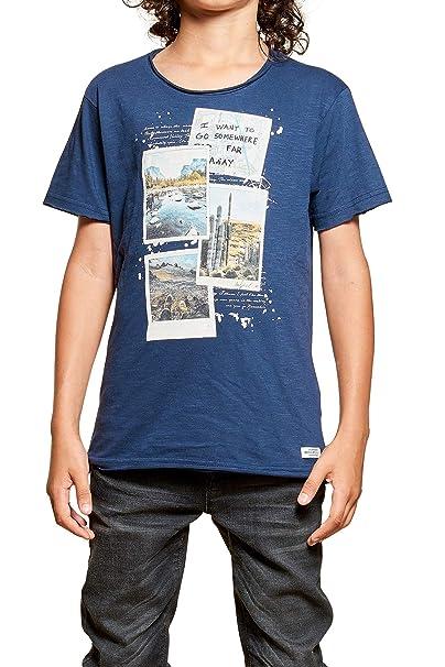 db88bee3 DeeLuxe - Camiseta de Manga Corta - Asimétricos - Redondo - para niño Azul  Marino Small: Amazon.es: Ropa y accesorios