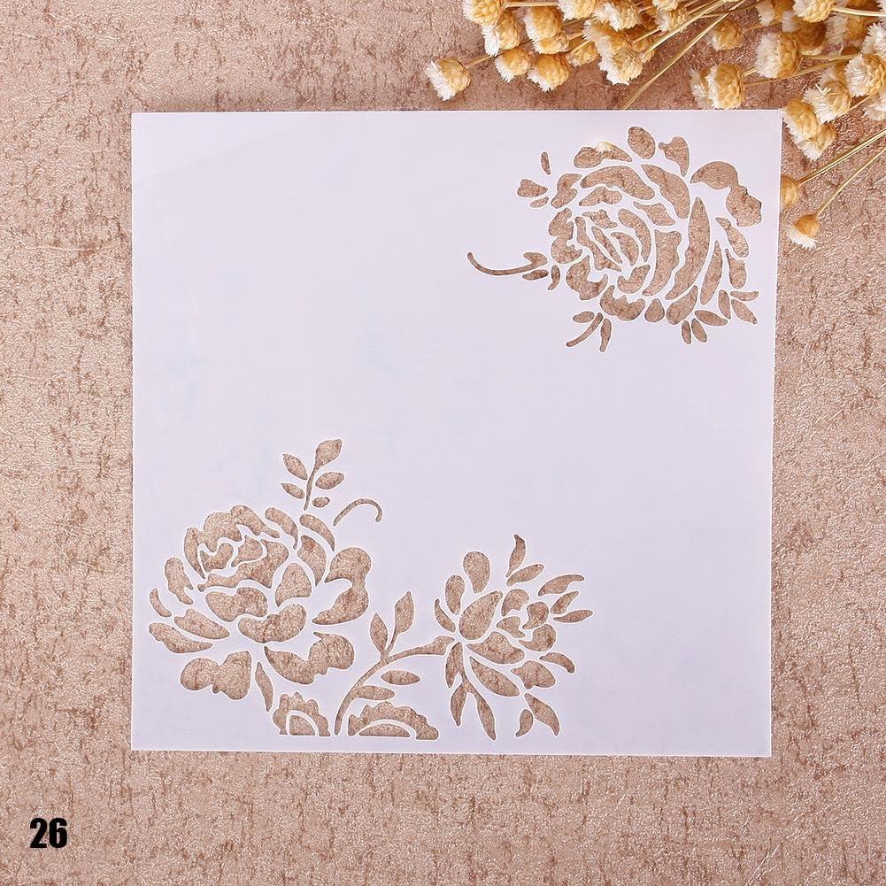 Teabelle d/écoration dalbum et dessin /à la main scrapbooking Pochoir pour peinture a/érographe