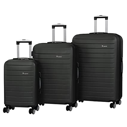 IT Luggage Legion 3-Piece 8-Wheel Hardside Expandable, Dark Grey