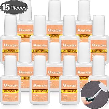 Amazon.com: Pegamento adhesivo para uñas postizas: Beauty