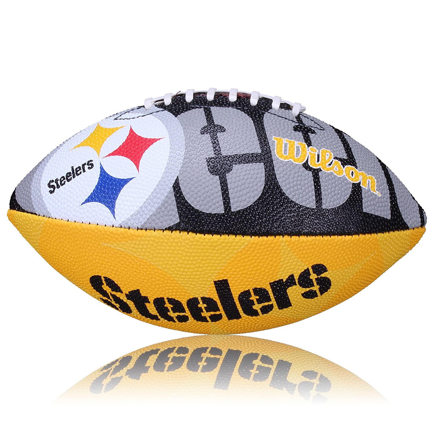Wilson Football NFL Junior Steelers Logo Junior - Balón de fútbol americano (infantil, caucho), color verde, talla Junior WL0206213640