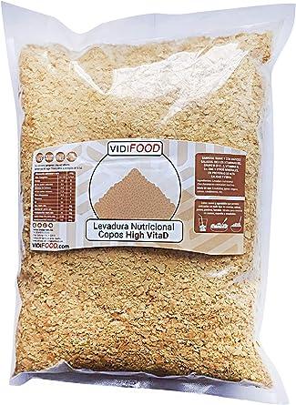 Levadura Nutricional Enriquecida Con Vitamina D - 1kg - Alimento Vegano Alto En Proteínas, Bajo En Grasa Y Libre De Gluten - Suplemento De Vitamina D ...