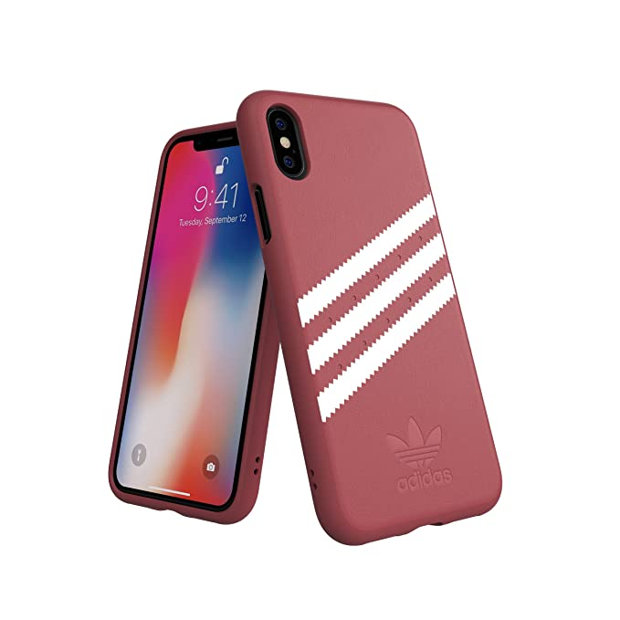 low cost 2b30e 91d96 adidas Originals Moulded Case PU Suede for iPhone X/XS - Pink