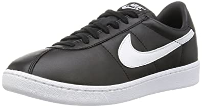 Nike Bruin QS Leather '70s 842956-001 Black/White Swoosh Men's Shoes (