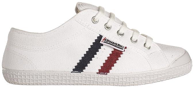 Kawasaki SAB, Slim, Sneakers Basses Adulte Mixte - Blanc - Weiß (White, 01), 39