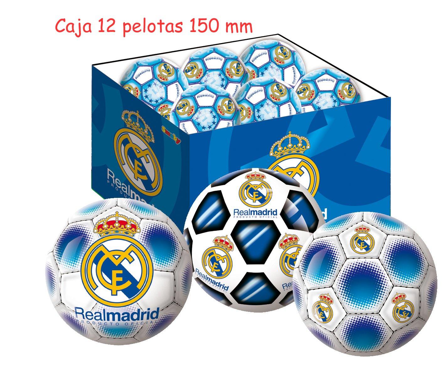 Unice - Caja 12 Pelotas 150 mm Real Madrid: Amazon.es: Juguetes y ...