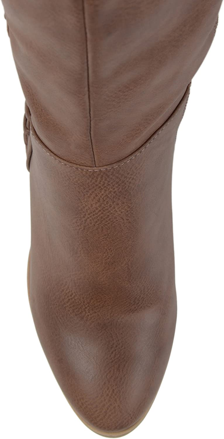 Womens Faux Leather Faux Lace-up Over-The-Knee Boots Brinley Co