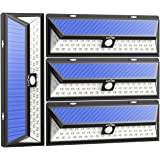 Litom Solar Lights Outdoor 54 LED, Super Bright Wide Angle Solar Powered Light, Wireless Security Waterproof Wall Lights for Garage Patio Garden Driveway Yard RV (4 Pack)