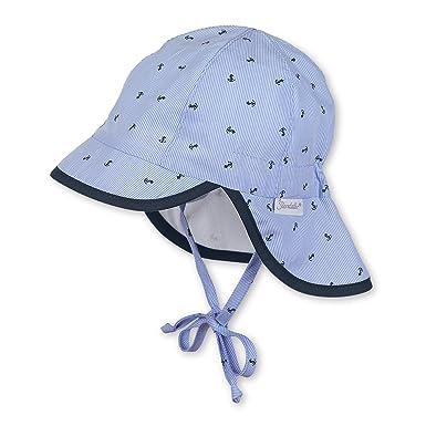 Sterntaler Baby-Jungen Mütze Schirmmütze m. Nackenschutz Blau (Himmel 325)  45 289f854cca9