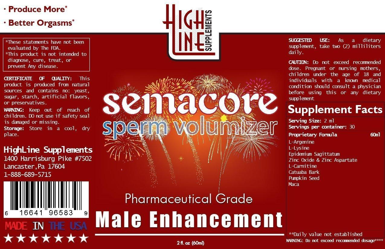Semacore HIGH Grade Semen Volumizer - 80% More Effective Than Pill Form
