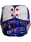 Superbottoms Plus UNO Reusable Cloth Diaper with 2 Organic Cotton Inserts, Champions, One Size