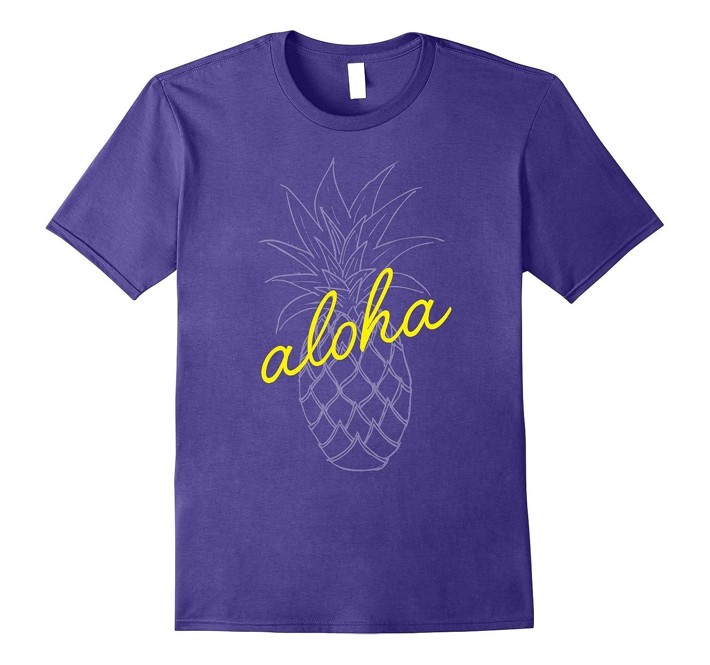 Aloha Pineapple Shirt Funny Cute Boho Foodie Hipster Gift-Vaci