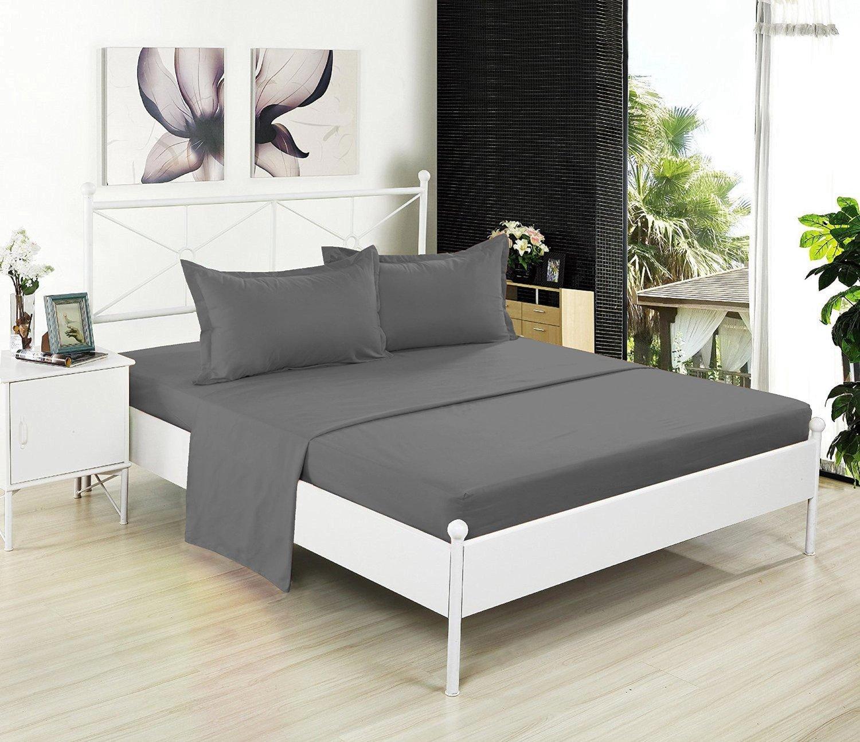 フラットシートのみ – 200スレッドカウント100 %コットン – Soft and Comfy – by Crescent寝具 クイーン ピンク FLS-PINK-QN B01LYM7347 クイーン|ピンク ピンク クイーン