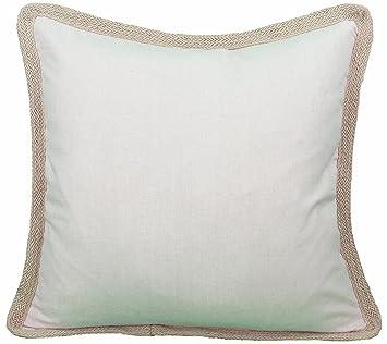 Amazon.com: Manor Luxe Square Classic Yute Trimmed Color ...