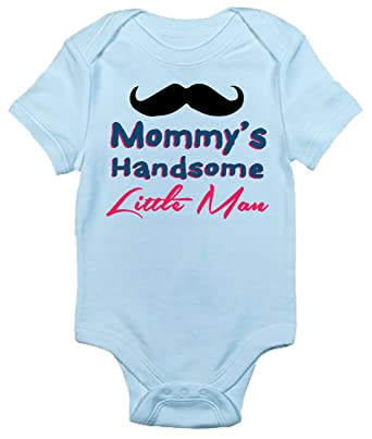 d07baf5c40bd Amazon.com  Mommy s Handsome Little Man Baby Bodysuit Cute Baby ...
