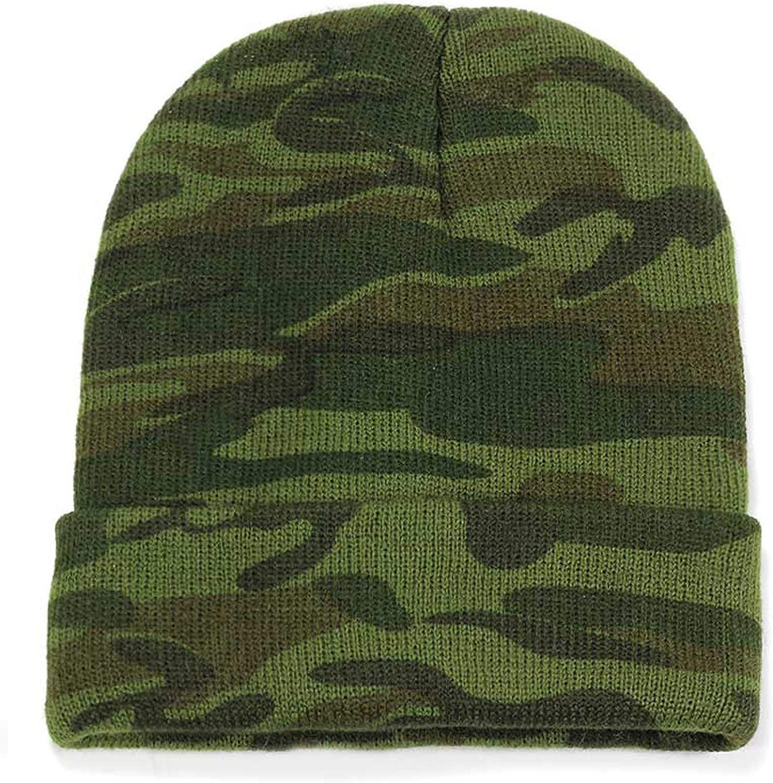 MEIZOKEN Camouflage Knit Beanie Hat Winter Mens Cotton Cap to Keep Warm Male Trucker Ski Slouchy