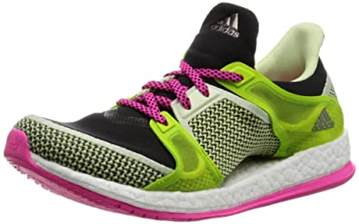 on sale 399b0 b1d3e Adidas Women s Pure Boost X Tr W Black, Pink and Green Mesh Running Shoes -