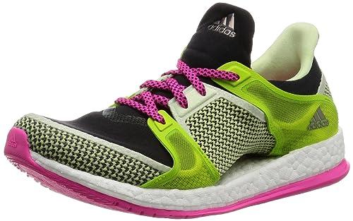 official photos c329f 99121 adidas Pure Boost X TR W, Botas de fútbol para Mujer, Negro Rosa Verde  (Negbas Rosimp Seliso), 42 2 3 EU  Amazon.es  Zapatos y complementos