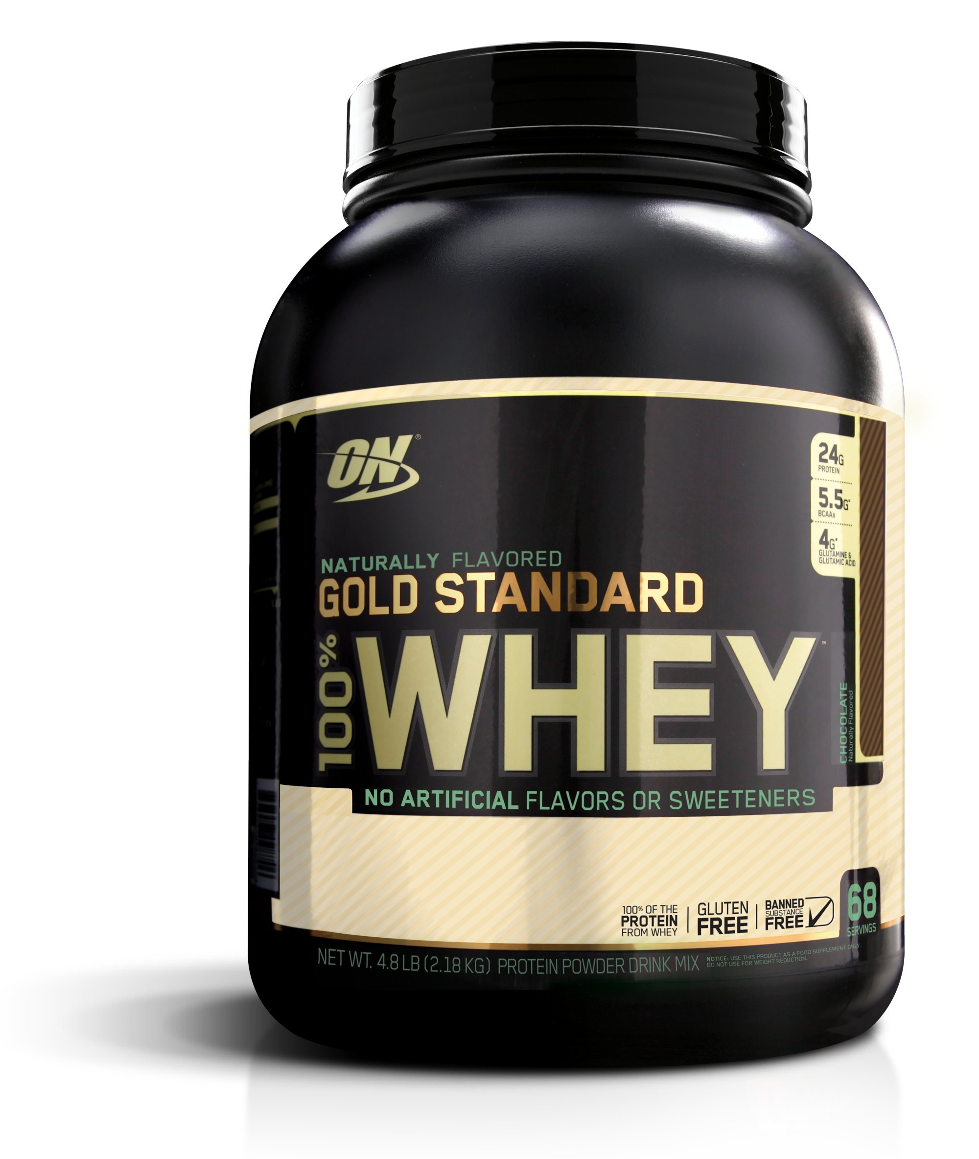 OPTIMUM NUTRITION GOLD STANDARD 100% Whey Protein Powder, Naturally Flavored Chocolate, 4.8 Pound by Optimum Nutrition