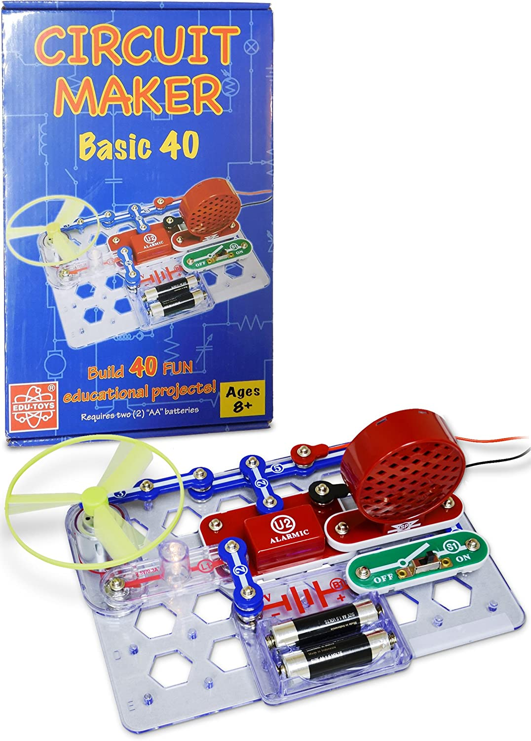 Elenco Circuit Maker 40 Basic Electronics Discovery Kit Electronic Circuits For Kids Simple Toys Games