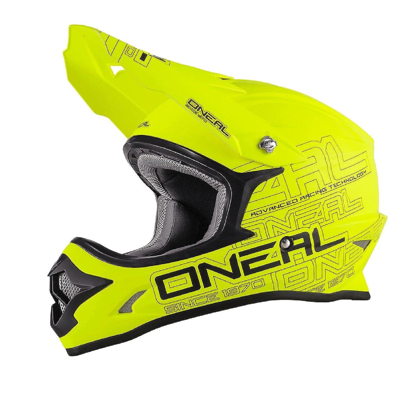 O& 039;Neal 3Series MX Helm Flat Neon Gelb Hi-Vis ABS Motocross Enduro Cross Motorrad 2017, 0623-03