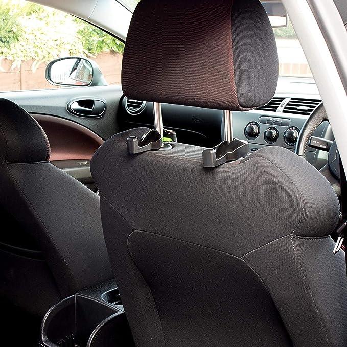 Universal Vehicle Headrest Hook Holder Bestwin Headrest Hanger for Purse Handbag Headrest Hooks for Car Coat and Bottle Grocery Bags